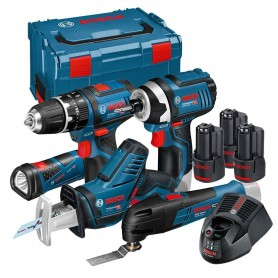 Bosch 5-Tool-Set GOP/GSR/GSA/GLI/GDR, 3x 4.0 Ah, inkl. Koffer