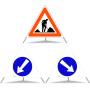 Faltsignal Construction 1.14 / 2.34 / 2.35 N90