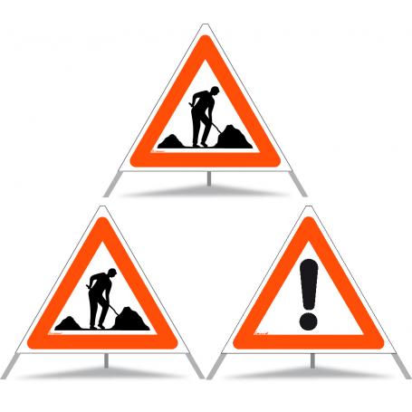 Faltsignal Construction 2x 1.14 Baustelle/1x 1.30 Andere Gefahren N90 (Kombiniert)