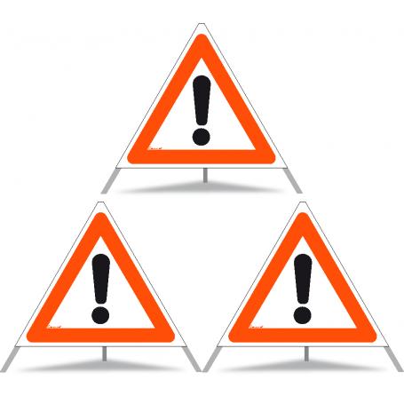 Faltsignal Construction 3x1.30 Andere Gefahren N60