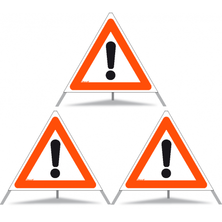 Faltsignal Construction 3x1.30 Andere Gefahren R90