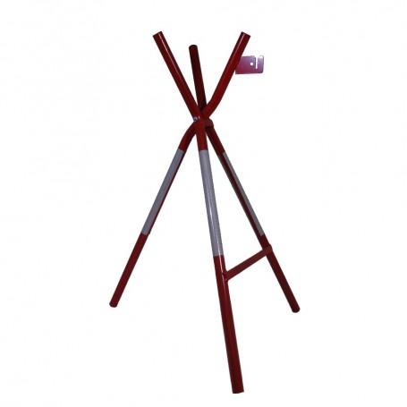 Absperrbock mit Lampenhalter rot/weiss