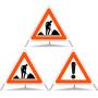 Faltsignal Construction 2x 1.14 Baustelle/1x 1.30 Andere Gefahren N60 (Kombiniert)