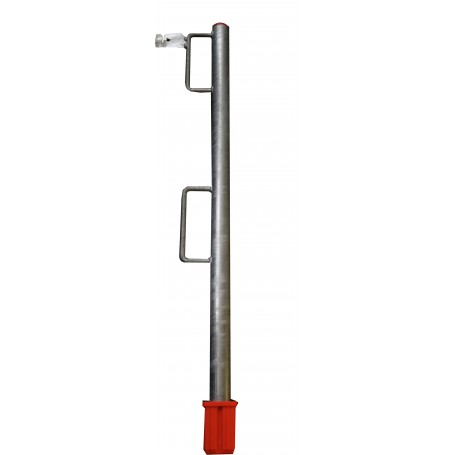 Lattenhalter Rohr mit 2 Bügeln (Längslattenhalter) mit Rohrschuh