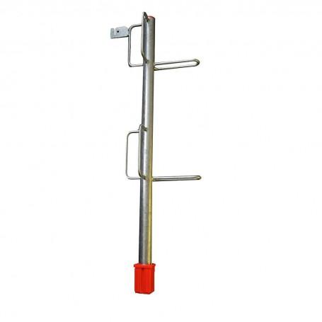 Lattenhalter Rohr mit 6 Bügeln (Ecklattenhalter) mit Rohrschuh