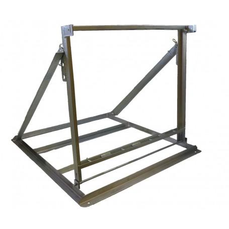 Vorsignalständer für 4 senkrechte Latten inkl. 2x Tafelhalter 4-fach zur Befestigung an Absperrlatten
