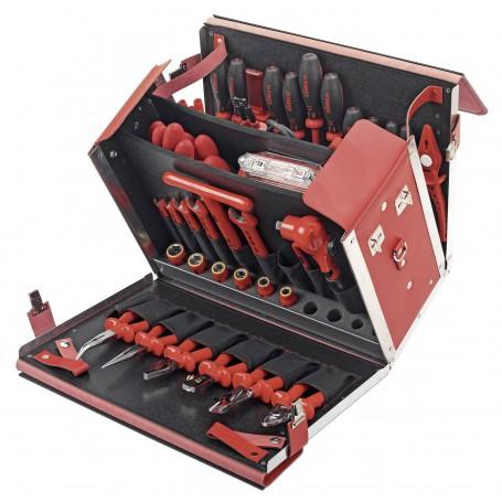 Cimco Elektriker Werkzeugkoffer bestückt 54teilig