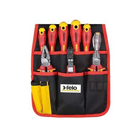 Felo Werkzeugtasche mit 9, rot und schwarz