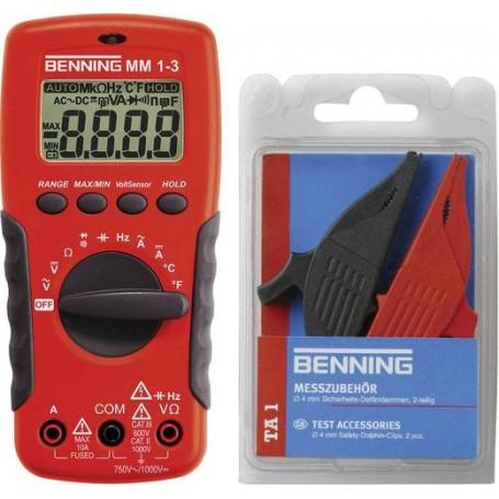 Benning MM 1-3 + Set TA 1 Hand-Multimeter digital