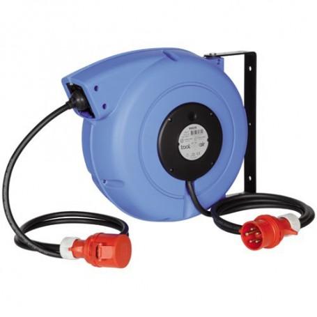 Kabelrolle 400 Volt, 2200 W Max., 17 M X 5X1.5 Mm2, Cee-16, Mit Autom. Rückzug